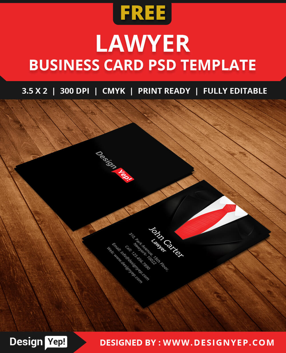 Free Lawyer Business Card Template Psd – Designyep For Calling Card Free Template