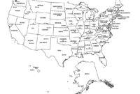 Free Map Of The United States Black And White Printable for Blank Template Of The United States
