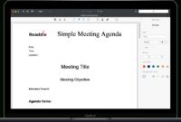 Free Meeting Agenda Template | Meeting Agenda Pdf Download pertaining to Agendas For Meetings Templates Free