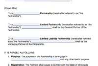 Free Minnesota Partnership Agreement Template | Pdf | Word | intended for Business Contract Template For Partnership