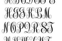 Free Monogram Letter Template ] – Free Printable Monogram within 3 Letter Monogram Template