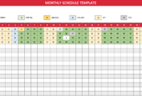 Free Monthly Work Schedule Template – Crew with Blank Monthly Work Schedule Template