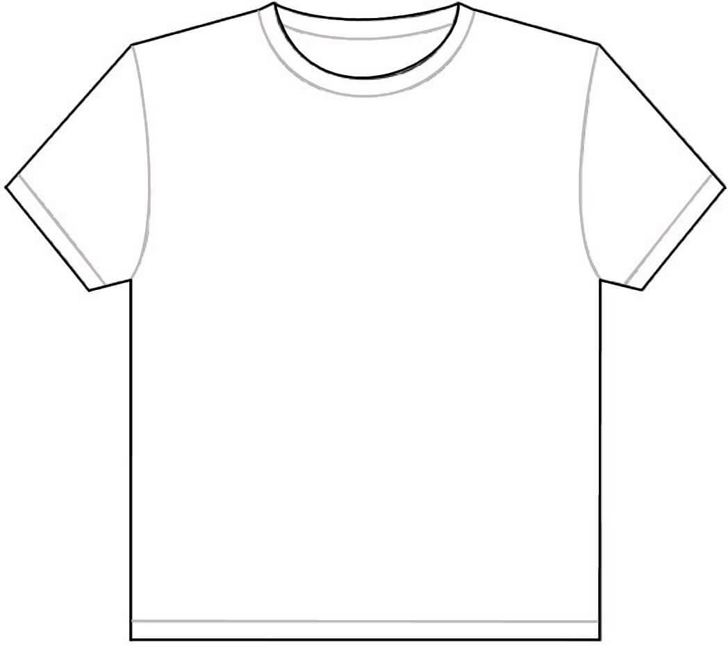 Free Outline Of A T Shirt Template, Download Free Clip Art Intended For Blank T Shirt Outline Template