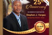 Free Pastor Anniversary Flyer Psd Template On Behance with regard to Anniversary Flyer Template Free