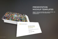 Free Powerpoint Template With Business Card Mockup in Business Card Powerpoint Templates Free
