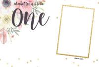 Free Printabe Boho Chic First Birthday Invitation Templates with 1St Birthday Invitation Templates Free Printable