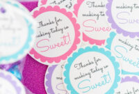 Free Printable Baby Shower Favor Tags In 20+ Colors – Play throughout Baby Shower Label Template For Favors