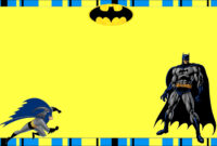 Free Printable Batman Birthday Invitations inside Batman Birthday Card Template