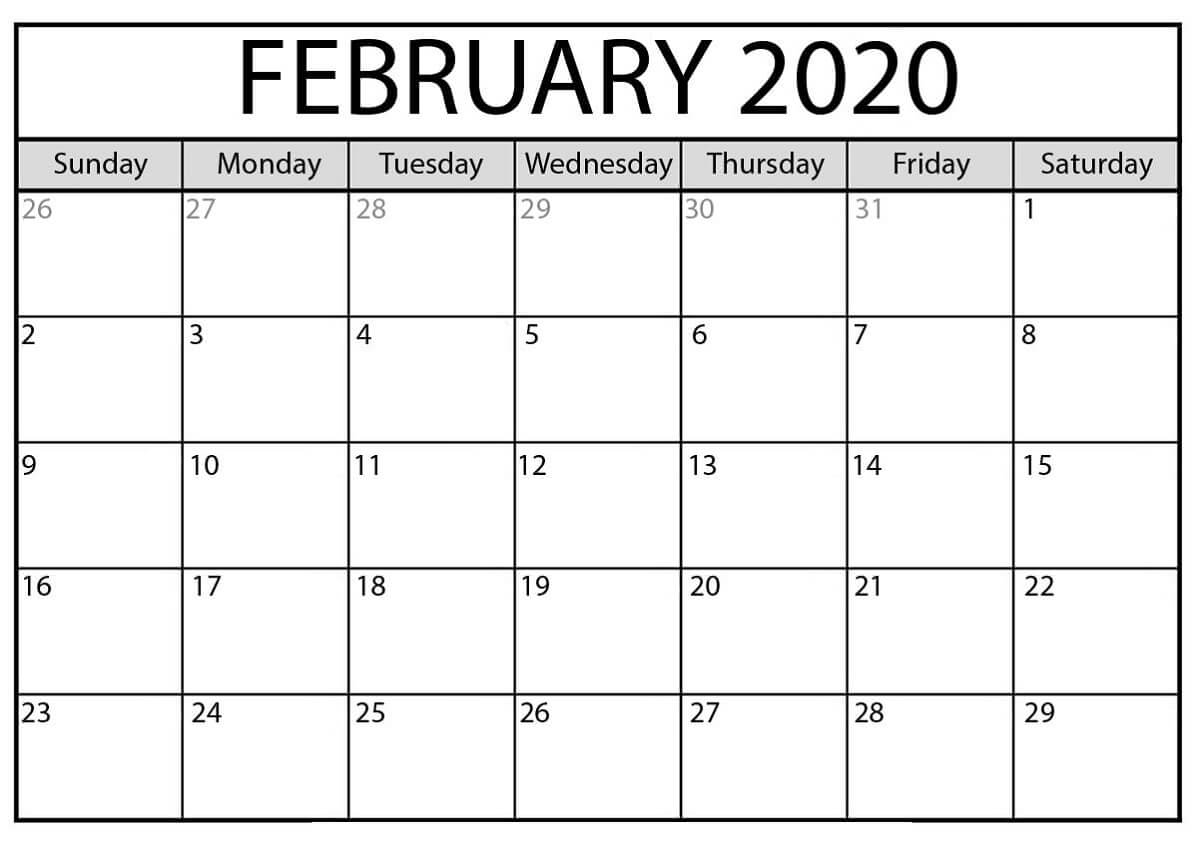 Free Printable Calendar Templates 2020 For Kids In Home Regarding Blank Calendar Template For Kids