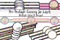 Free Printable Canning Jar Labels: Tons Of Designs & Colors with Canning Jar Labels Template