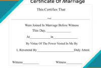 Free Printable Certificate Of Marriage Template with Certificate Of Marriage Template
