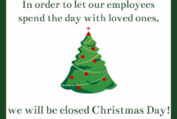 Free Printable Christmas Sign Templates | Signs Blog with Business Closed Sign Template