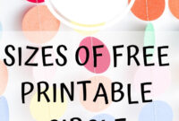 Free Printable Circle Templates – Large And Small Circle pertaining to 2 Inch Circle Template