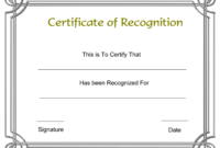 Free Printable Employee Certificate Of Recognition Template regarding Certificate Of Appreciation Template Free Printable