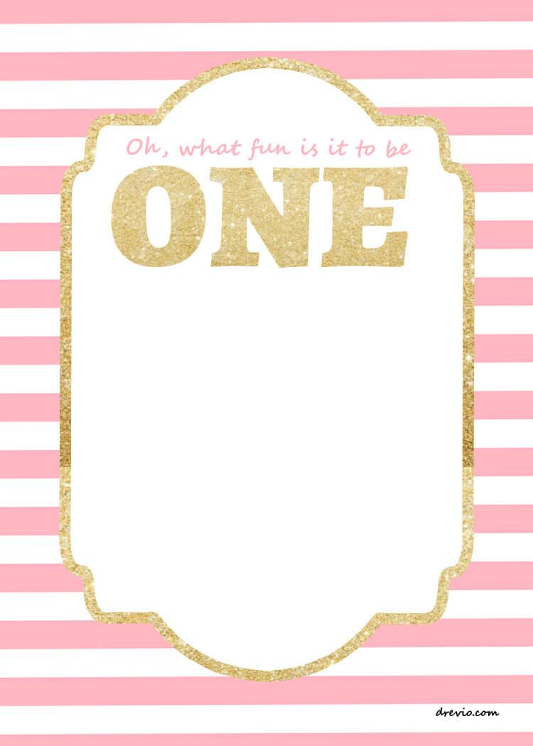 Free Printable First Birthday Invitations Template – Bagvania Throughout 1St Birthday Invitation Templates Free Printable