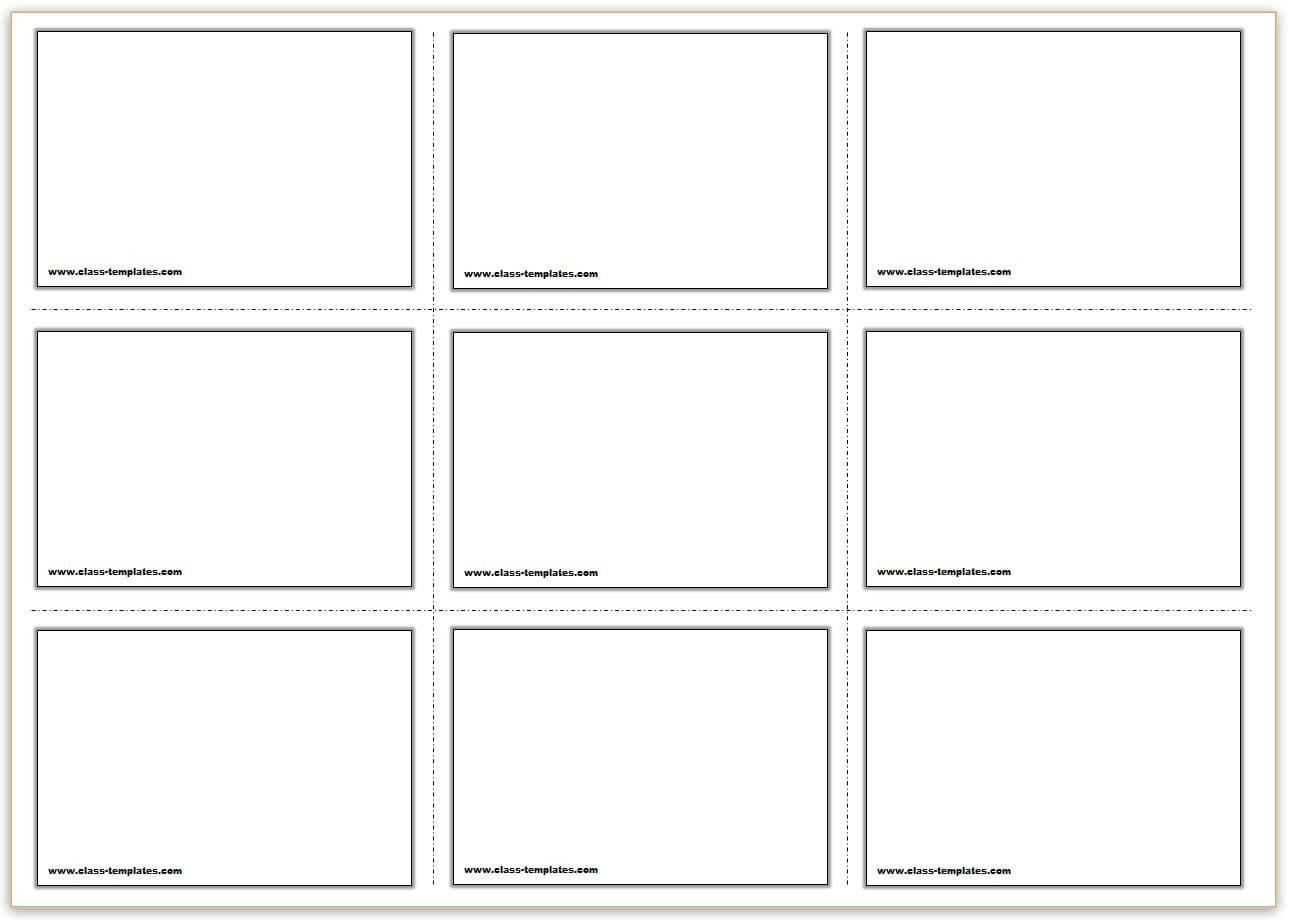 Free Printable Flash Cards Template Regarding Blank Index Card Template