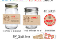 Free Printable Mason Jar Labels Template – Easy Craft Ideas pertaining to Canning Labels Template Free