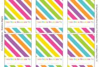 Free Printable Rainbow Bookplate Labels – All About Planners for Bookplate Templates For Word