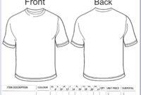 Free Printable T Shirt Order Form Templates – Form : Resume pertaining to Blank Tshirt Template Printable