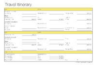 Free Printable Travel Itinerary Template | Template Business regarding Business Travel Itinerary Template Word