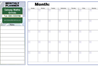 Free Printable Weekly Planner Template | Printable Weekly within Blank Revision Timetable Template