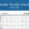 Free Printable Weekly Work Schedule Template For Employee Regarding Blank Monthly Work Schedule Template