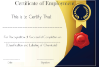 Free Sample Certificate Of Employment Template | Certificate with Certificate Of Employment Template