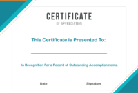 Free Sample Format Of Certificate Of Appreciation Template for Certificates Of Appreciation Template