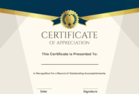 Free Sample Format Of Certificate Of Appreciation Template within Certificate Of Recognition Word Template