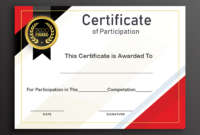 Free Sample Format Of Certificate Of Participation Template for Certificate Of Participation Word Template