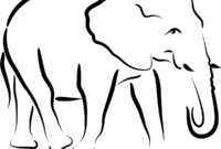 Free Simple Elephant Outline, Download Free Clip Art, Free within Blank Elephant Template