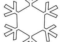 Free Snowflake Line Art, Download Free Clip Art, Free Clip throughout Blank Snowflake Template