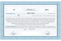 Free Stock Certificate Online Generator inside Blank Share Certificate Template Free