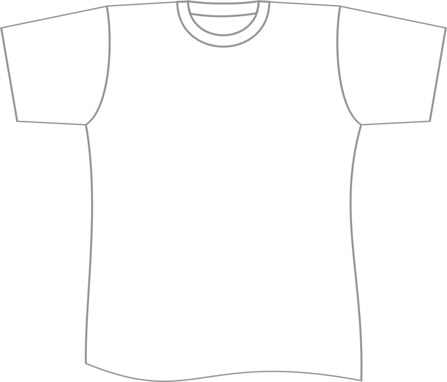 Free T Shirt Template Printable, Download Free Clip Art With Blank Tshirt Template Pdf