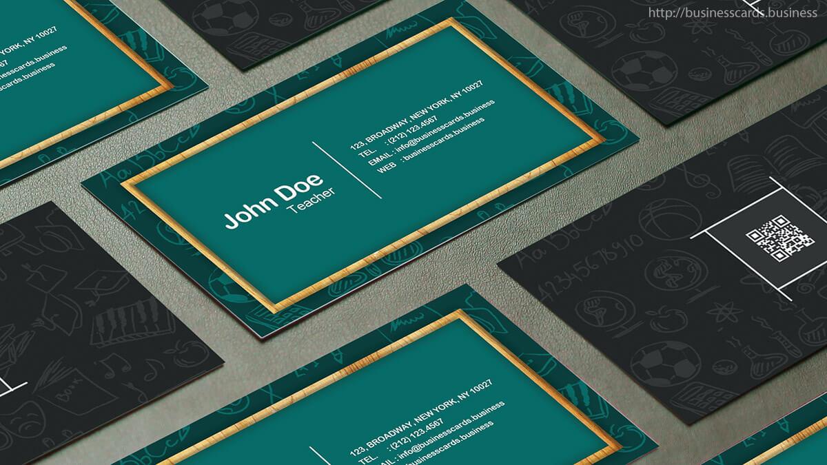 Free Teacher Business Card Template : Business Cards Templates Throughout Business Cards For Teachers Templates Free