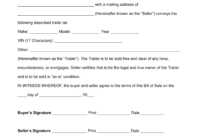 Free Trailer Bill Of Sale Form – Word | Pdf | Eforms – Free for Bill Of Sale Template Colorado