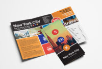 Free Travel Trifold Brochure Template For Photoshop within Bus Trip Flyer Templates Free
