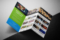 Free Tri-Fold Brochure Template For Events & Festivals – Psd with Adobe Illustrator Tri Fold Brochure Template