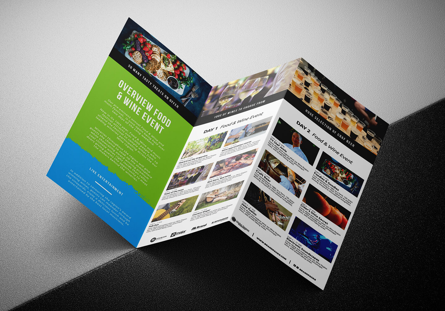 Free Tri Fold Brochure Template For Events & Festivals – Psd With Adobe Illustrator Tri Fold Brochure Template