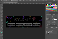 Free Twitch Banner Template In Psd (And How-To) / 4Vector with regard to Adobe Photoshop Banner Templates