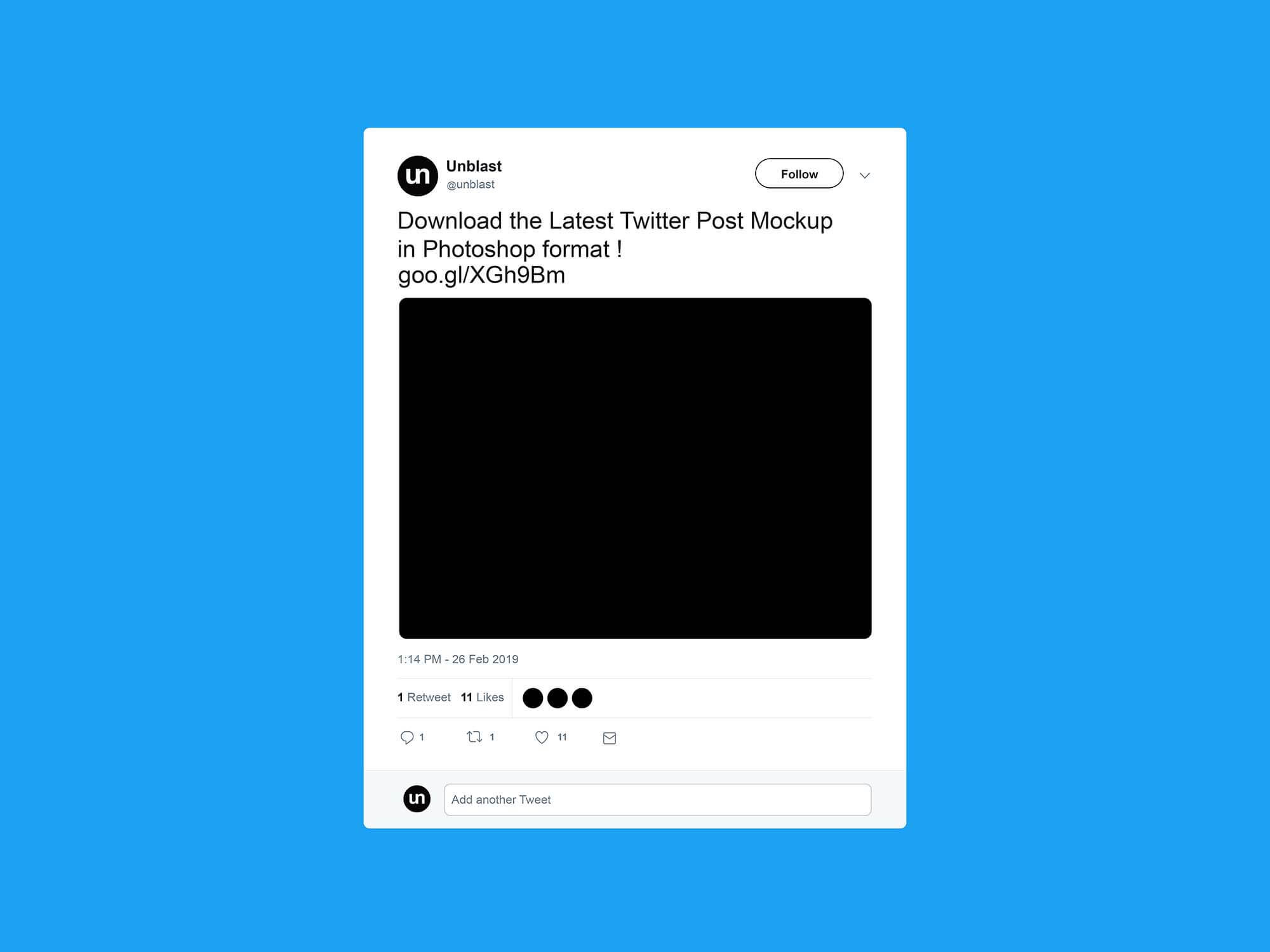 Free Twitter Post Mockup (2019) Intended For Blank Twitter Profile Template