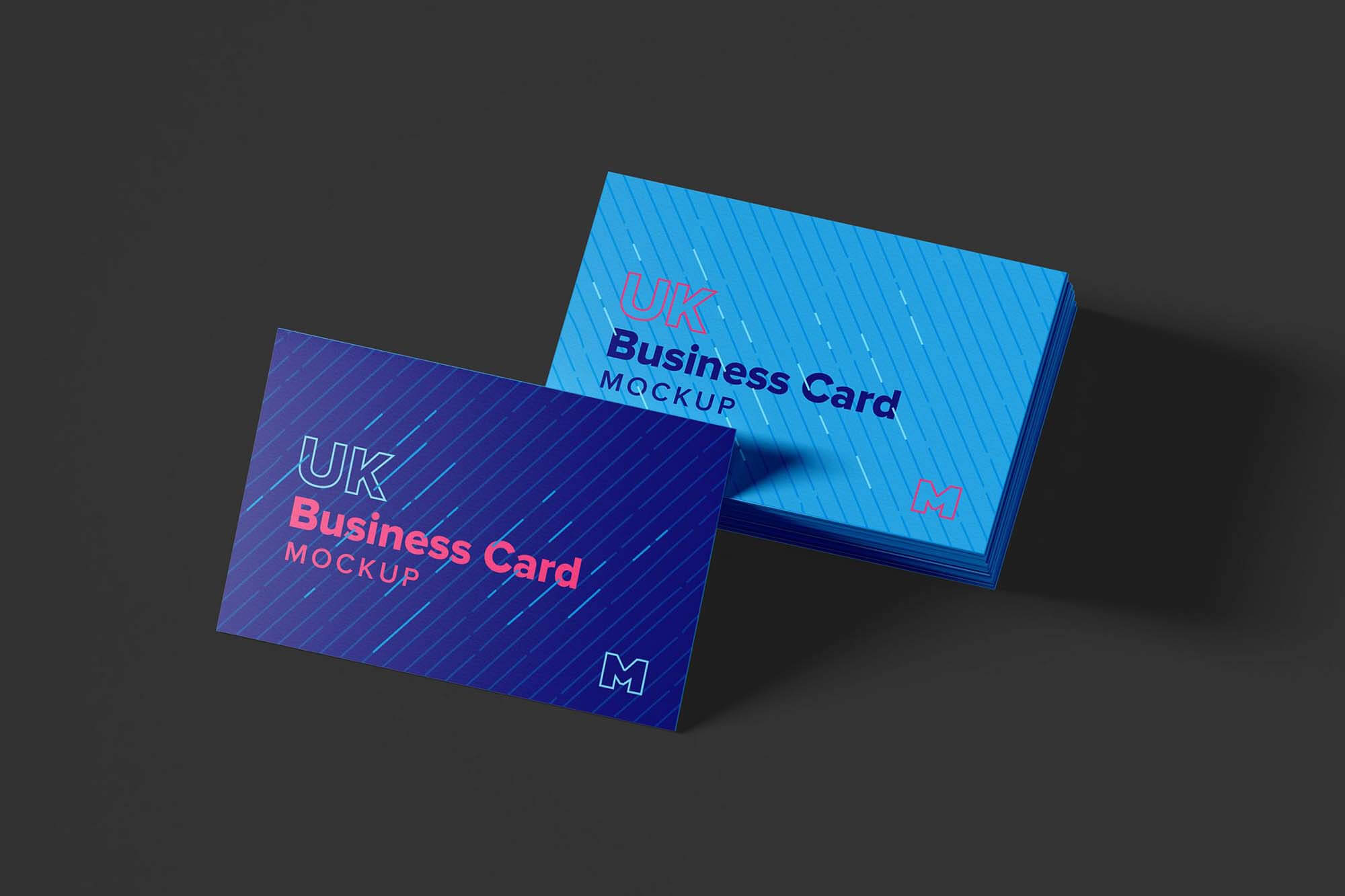 Free Uk Business Cards Mockup (Psd) Inside 8 5X 11 Business Card Template