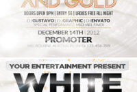 Free White And Gold Party Flyer Template On Behance pertaining to All White Party Flyer Template Free