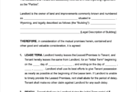 Free Wyoming Commercial Lease Agreement | Pdf | Word | Rtf throughout Business Lease Agreement Template
