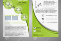 Front And Back Page Brochure Template. Layout Template inside 1 Page Flyer Template