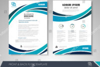 Front Back Page Brochure Template Flyer Stock Vector in 1 Page Flyer Template