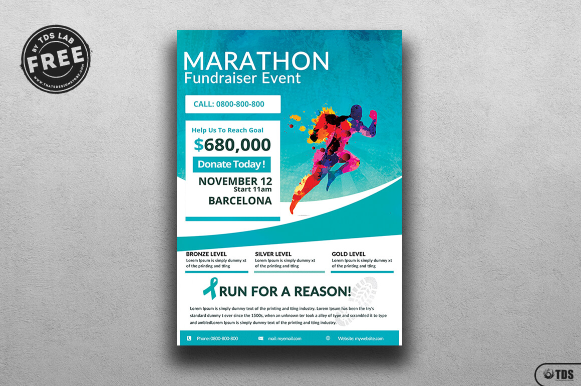 Fundraiser Flyer Free Download Marathon | Breast Cancer Pertaining To Charity Event Flyer Template