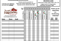 Fundraiser Order Form Templates – Word Excel Pdf Formats in Blank Fundraiser Order Form Template