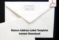 Funeral Return Address Label Template, From The Family Of within 1 X 2 5 8 Label Template