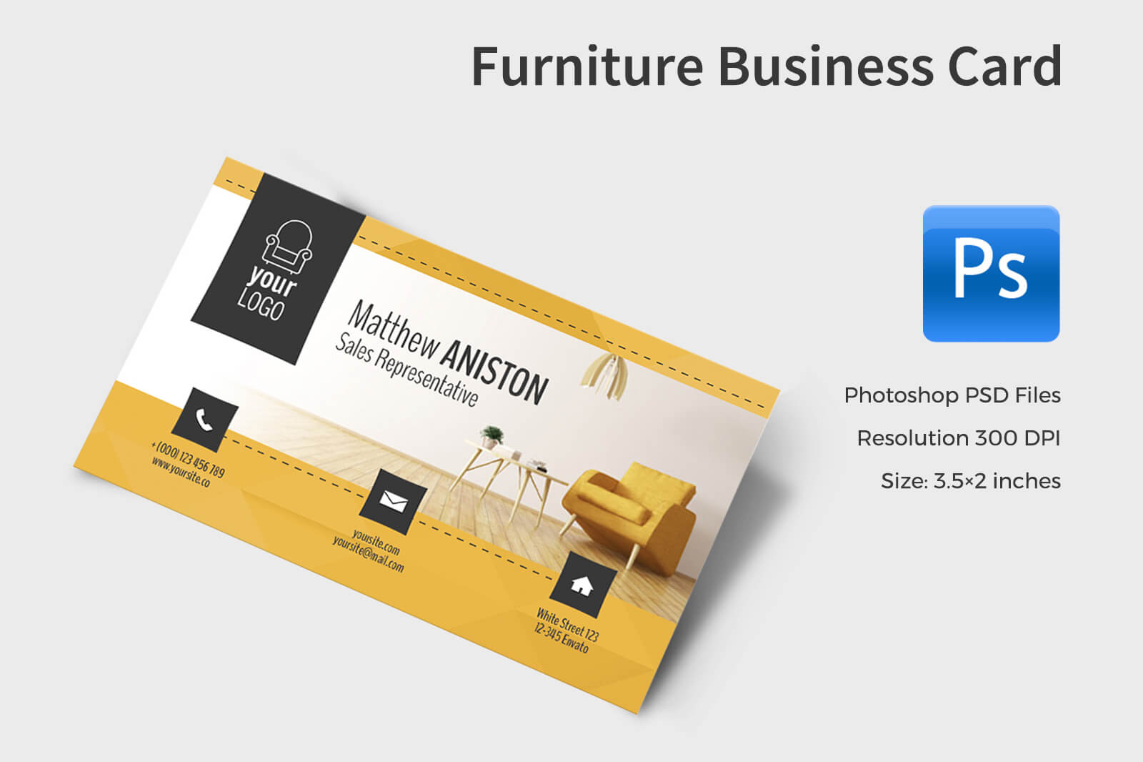 Furniture Business Card In Business Card Templates On Within Business Card Template Size Photoshop